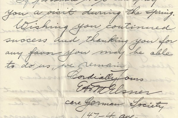 Letter Ed Elsner to William S. Teator Page 4
