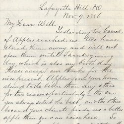 Letter J. Q. McAtee to William S. Teator Page 1