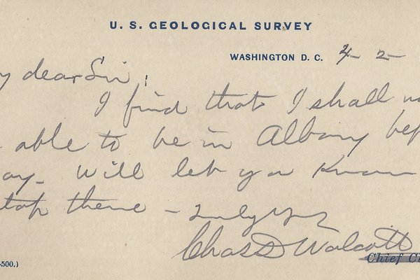 Letter Charles D. Walcott to William S. Teator (1887-4-2)