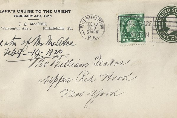 Letter J. Q. McAtee to William S. Teator (1920-2-10) Page 1