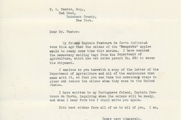 Letter from Fred Morris Dearing to William Teator (1926-10-20)