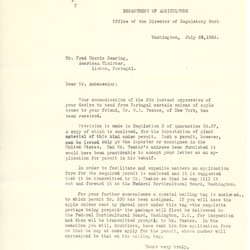 Letter from W. C. Campbell to Fred Morris Dearing