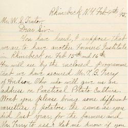 Letter from D. W. Tim Bioeck* to William S. Teator with Pamphlet - letter