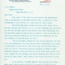 Letter from Nadine Cooper to William S. Teator, page 1