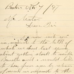 Letter from Michael White to William S. Teator, page 1