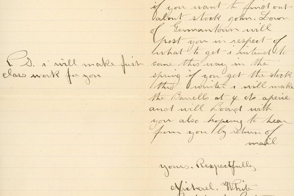 Letter from Michael White to William S. Teator, page 2
