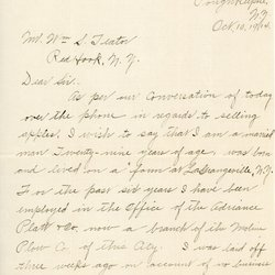 Letter from E. H. Upton to William S. Teator