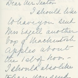 Letter from Jean W. Delano to William S. Teator (October 23), page 1