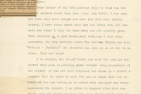Letter from B. E. Kingman to William S. Teator, page 1