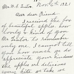 Letter from Emma C. McAtee to William S. Teator, page 1