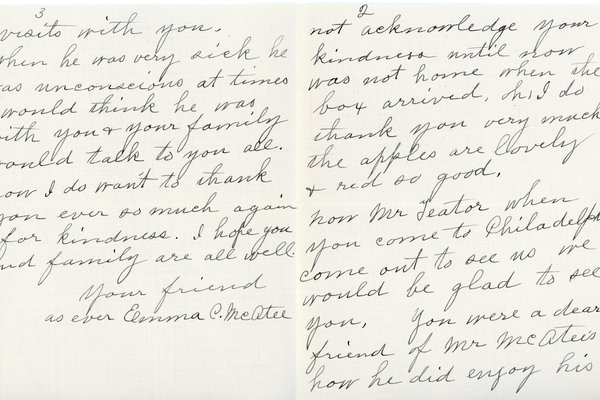 Letter from Emma C. McAtee to William S. Teator, page 2