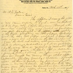Letter from S. B. Fish to William S. Teator, page 1