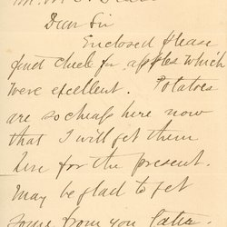 Letter from Geo. S. Knickerbocker to William S. Teator