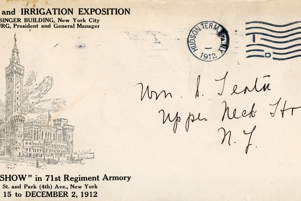 Envelope from American Land and Irrigation Exposition to William S. Teator