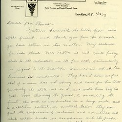 Letter from E. J. Andrews to Charles H. Broas, page 1