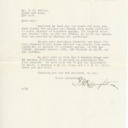 Letter from J. C. Killough to William S. Teator