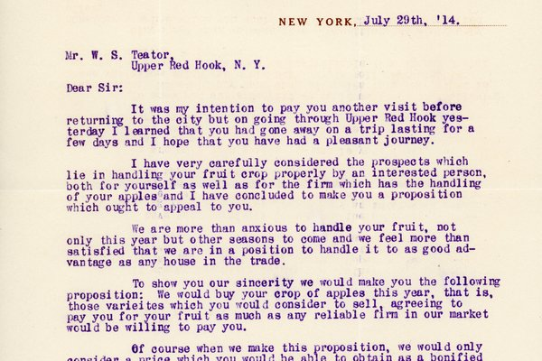 Letter from C. I. & M. Dingfelder to William S. Teator, page 1