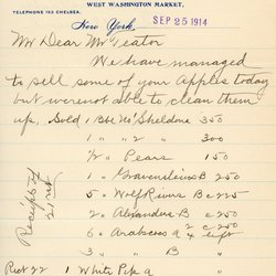 Letter from T. S. Williamson to William S. Teator, page 1