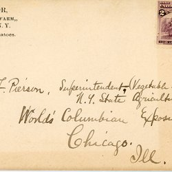 Letter from W. S. Teator to M. F. Pierson