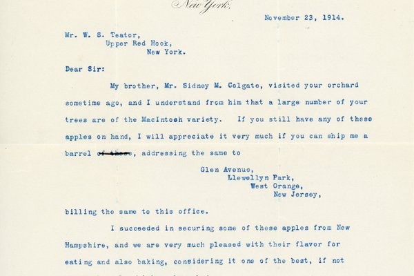 Letter from Riclian M. Colgate to W. S. Teator