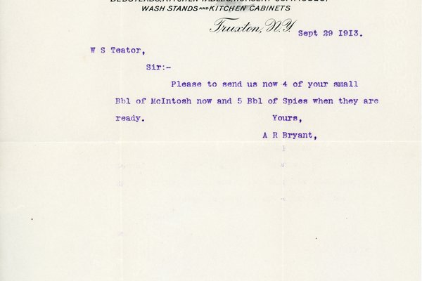 Letter from A. R. Bryant to W. S. Teator