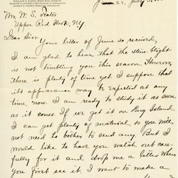 Letter from F. C. Stewart to W. S. Teator Page 1