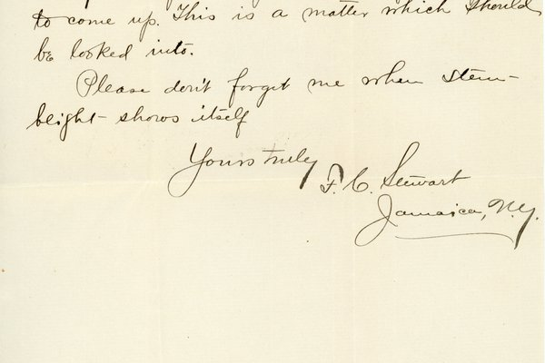 Letter from F. C. Stewart to W. S. Teator Page 2