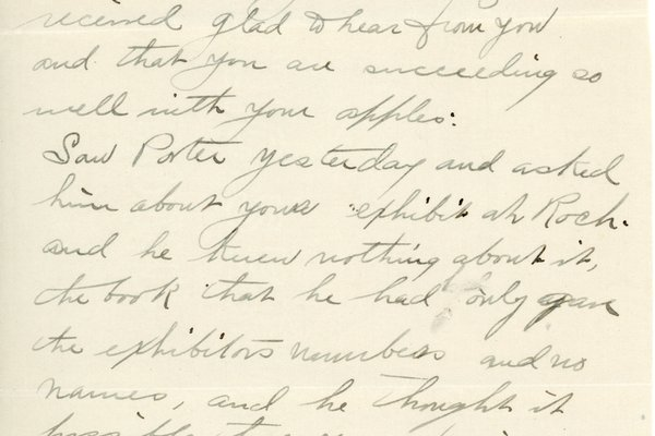Letter from Leslie Tanner to W. S. Teator Page 1
