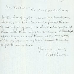 Letter from Charles H. Broas to W. S. Teator Page 1