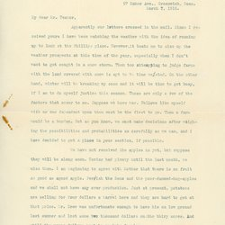 Letter from Gordon Mead to W. S. Teator