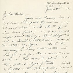 Letter to Roscoe Teator Page 1