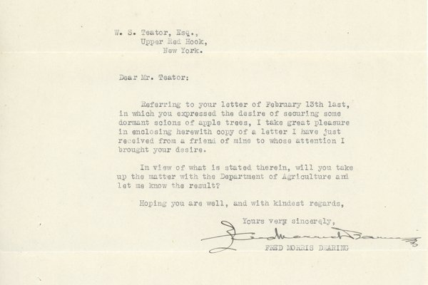 Letter from Fred Morris Dearing to W. S. Teator
