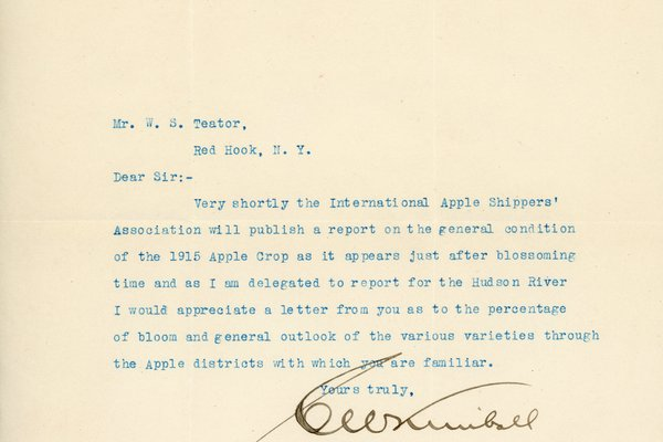Letter from C. W. Kimball to W. S. Teator