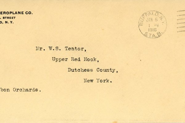 Letter from Theodore C. Macaulay to W. S. Teator Envelope