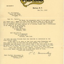 Letter from Theodore C. Macaulay to W. S. Teator